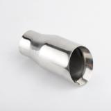 120x80mm Edelstahl Endrohr Poliert oval // abgeschrägt